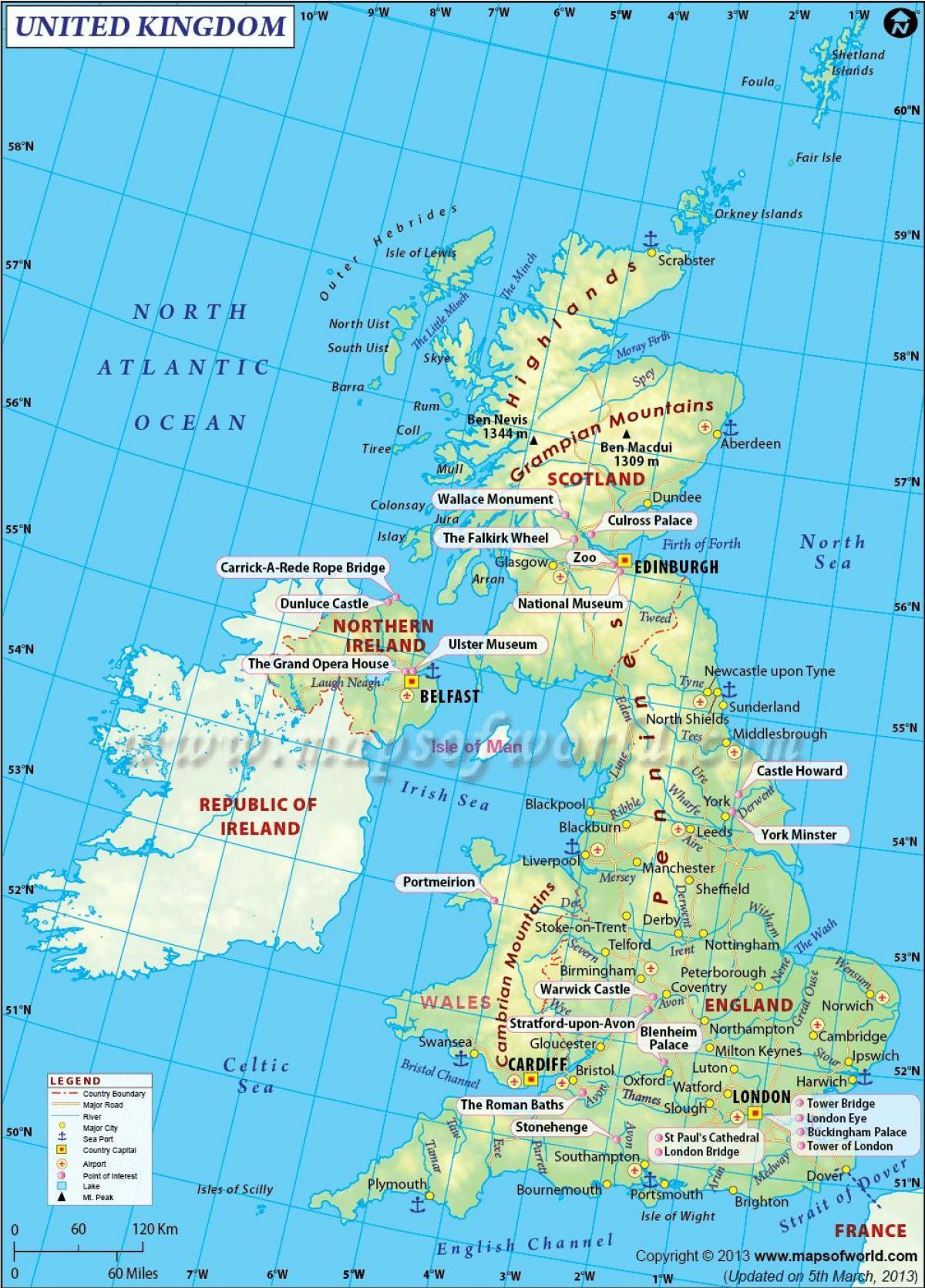 Atlas Map Of Uk.Uk Zemėlapis Zemėlapis Uk Atlasas Siaurės Europoje Europa